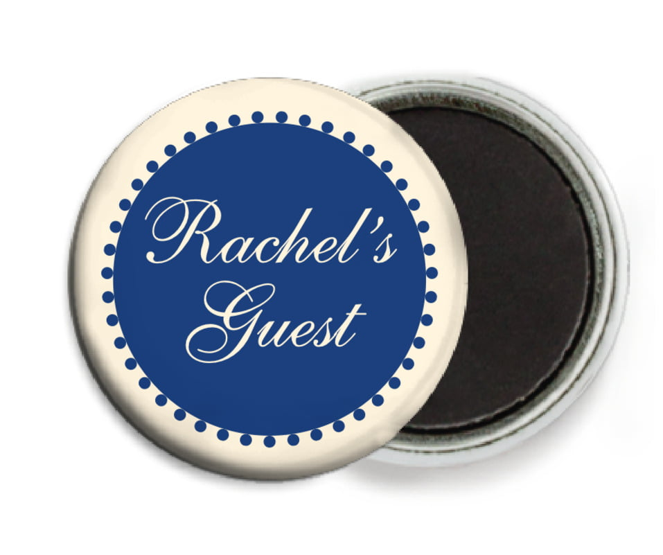 custom button magnets - deep blue - westchester (set of 6)