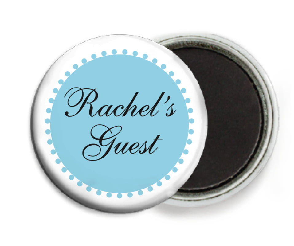 custom button magnets - sky - westchester (set of 6)