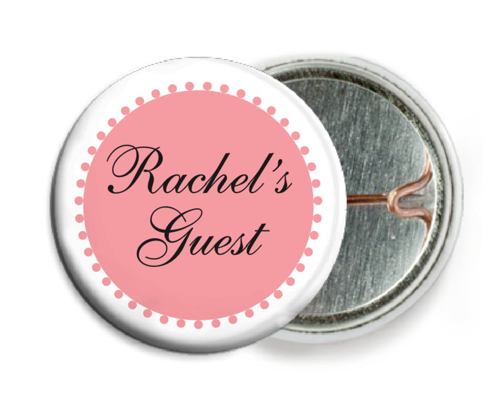 custom pin back buttons - grapefruit - westchester (set of 6)