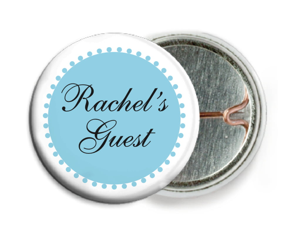 custom pin back buttons - sky - westchester (set of 6)