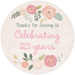 Whimsical Floral circle labels