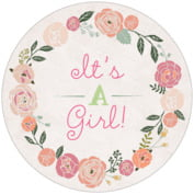 Whimsical Floral baby shower coasters
