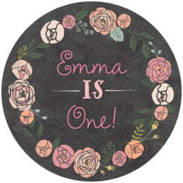 Whimsical Floral round coasters