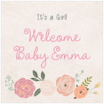 Whimsical Floral baby labels and stickers