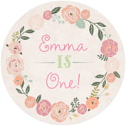Whimsical Floral baby birthday coasters