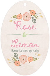 Whimsical Floral large oval hang tags