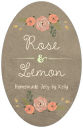 Whimsical Floral tall oval labels