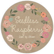 Whimsical Floral large circle labels
