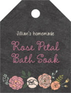 Whimsical Floral small luggage tags