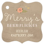Whimsical Floral fancy square tags