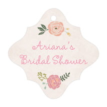Whimsical Floral fancy diamond hang tags
