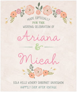 Whimsical Floral large labels