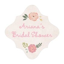 Whimsical Floral fancy diamond labels