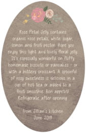 Whimsical Floral oval text labels