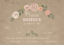 custom response cards - mocha - whimsical floral (set of 10)