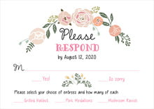 custom response cards - charcoal - whimsical floral (set of 10)