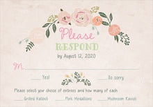 custom response cards - champagne - whimsical floral (set of 10)