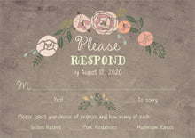 custom response cards - warm grey - whimsical floral (set of 10)