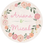 Whimsical Floral bridal shower coasters