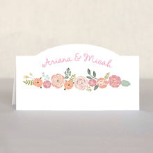Whimsical Floral Place Card In Champagne