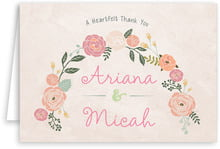Whimsical Floral wedding thank you cards