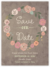 Whimsical Floral save the date cards
