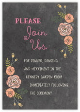 Whimsical Floral enclosure cards