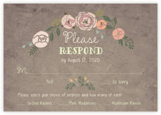 Whimsical Floral response cards