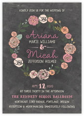 Whimsical Floral invitations