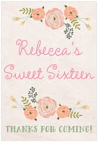 Whimsical Floral tall rectangle labels