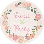 Whimsical Floral sweet sixteen coasters