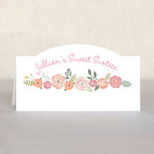 Whimsical Floral sweet sixteen place cards