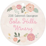 Whimsical Floral circle hang tags