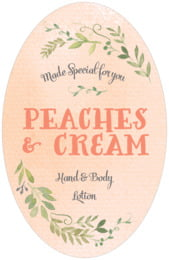 Watercolor Spring tall oval labels