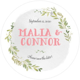 Watercolor Spring round coasters