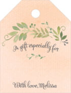 Watercolor Spring Small Luggage Gift Tag In Peach
