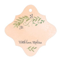 Watercolor Spring fancy diamond gift tags