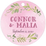 Watercolor Spring circle hang tags