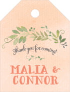 Watercolor Spring small luggage tags