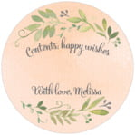 Watercolor Spring small circle gift labels