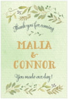 Watercolor Spring tall rectangle labels