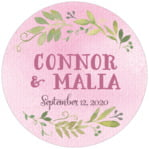 Watercolor Spring circle labels