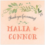 Watercolor Spring square labels