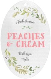 Watercolor Spring large oval hang tags