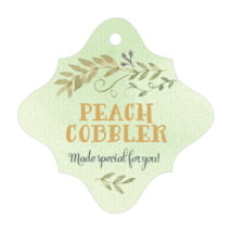 Watercolor Spring fancy diamond hang tags