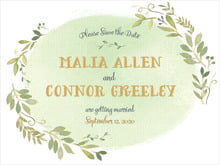 custom save-the-date cards - green tea - watercolor spring (set of 10)