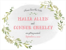 custom save-the-date cards - stone - watercolor spring (set of 10)