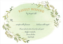 custom response cards - green tea - watercolor spring (set of 10)