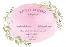 custom response cards - pale pink - watercolor spring (set of 10)