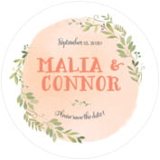 Watercolor Spring anniversary coasters